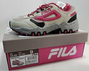 Fila Women's Reminder Hiking Shoes Sneaker Tan/ Pink/ Black (Size 9)