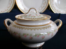 THEODORE HAVILAND LIMOGES c.1903- COVERED SUGAR BOWL-EXCELLENT!! GILT!! MINT!!