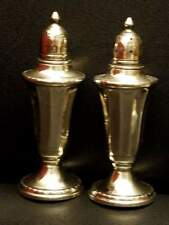 "VINTAGE N.S. CO. STERLING SILVER SALT AND PEPPER SHAKERS 4 3/4"" HIGH"