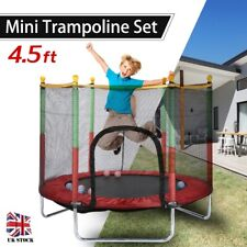 4.5FT Trampoline with Enclosure Safety Net Kids Children Outdoor Indoor Toy Play