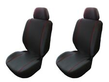 FRONT SEAT COVERS FOR FORD TRANSIT MK4 MK5 MK7 CUSTOM 1+1 Red piping