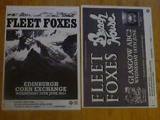 Fleet Foxes - Scottish tour concert gig posters x 2