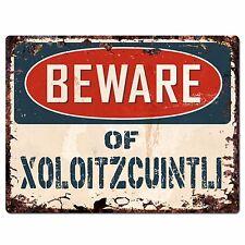 PPDG0012 Beware of XOLOITZCUINTLI Plate Rustic Chic Sign Decor Gift
