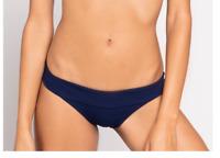 L*Space Ribbed Veronica Bikini Bottom Midnight Blue Swimwear Size S 9404