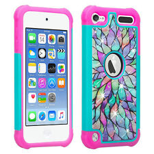 For iPod Touch 5th 6th Generation Hybrid Bling Dual Layered Rhinestone Case