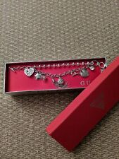 Guess Costume Jewelry Charm Bracelet Silver