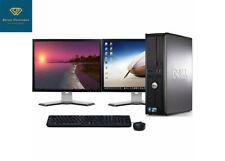 "Fast Dell Desktop Core 2Duo Custom 8GB RAM 1TB HDD Windows 10/7 Dual 19"" Monitor"