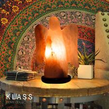 Natural Ionising Himalayan Rock Crystal Salt Night Lamp UK Plug USB LED Angel