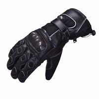 Winter Leather Waterproof Thermal Motorcycle Motorbike Leather Gloves Cordura