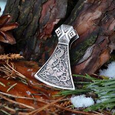 Viking Collana con pendente in argento mammen Ascia vichinga Slavi Cotone Cord