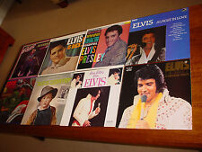 ELVIS PRESLEY * LOT OF 8 VINYL LP'S 56 SESSIONS E IS BACK LOVE LETTERS E COUNTRY