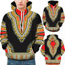 Lovers Winter African Long Sleeve Dashiki Hoodies Sweatshirt Top 3D Print Capuch