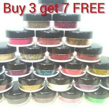 Glitter Pots BUY 3 Get 7 FREE!!! Eye Shadow Lip Temp Tattoo Nail Craft Face Body