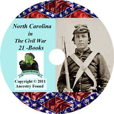 North Carolina Civil War Books History & Genealogy - 21 Books on DVD