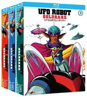 10 Blu ray x 3 Box UFO ROBOT - GOLDRAKE di Go Nagai collezione serie completa