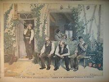 BARBIER VILLAGE COIFFEUR RASOIR ASSASSINAT ABBé DE BROGLIE LE PETIT JOURNAL 1895