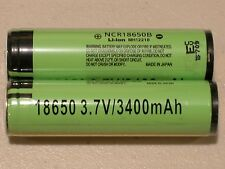 4 PANASONIC NCR18650B LI-ION BATTERY 3400mAh 3.7v 18650 NEW PROTECTION PCB JAPAN