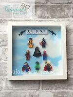 Personalised Lego Figure Box Frame Shadow Frame Superhero Disney Princess