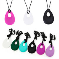 1PC Kids Baby Chewy Silicone Necklace Biting Sensory Teething Bite Toys