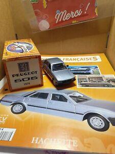 Norev Hachette Peugeot 505 de 1979 Ech 1/43 Boite et Livret Neuf