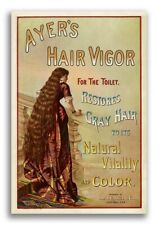 FREESTYLE WOMAN FLOWING HAIR COLORFUL SKIRT vintage art poster unique 24X36