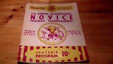 RARE Original 1970 Novice Hockey TournamentProgram - WAYNE GRETZKY (9 Years old)
