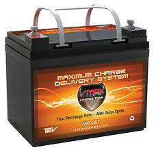 VMAX857 35AH AGM U1 Battery for Minn Kota PowerDrive 45lb 12V Trolling Motor