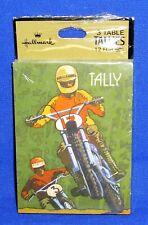 Hallmark Bridge Tallies Tally Cards 3 Table Pkg of 12 Dirt Roto BMX Bike Cycle