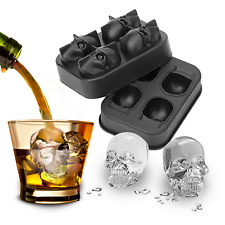 Skull Shape Ice Cube Tray Silicone Mould - UK Stock