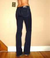 $178 Seven 7 For All Mankind Skinny Bootcut Gummy Jeans Dark Rich Sateen 25 26