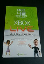 Xbox Live 48 Hour 2 Day Membership Code for XBOX 360 Vintage 2009 RARE - Insert
