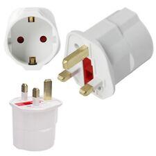 European Euro Schuko EU 2 Pin to UK 3 Pin Plug Travel Mains Adaptor Converter