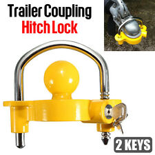 Trailer Parts Coupling Lock Universal Hitch Tow Ball 2 Keys Caravan Antitheft