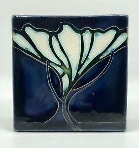 MOTAWI Tile Works Nouveau Tree/ Flower Art Tile /b