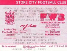 Ticket - Newcastle Town v Stoke City 02.08.92