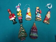 RUSSIAN CHRISTMAS ORNAMENTS HAND CARVED AND HANDPAINTED [a*5]