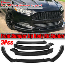 For 2013-16 Ford Fusion Mondeo Front Bumper Lip Body Kit Spoiler Glossy Black