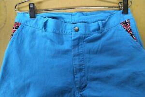 Rare 80's LIFE's A BEACH vintage Maltese Cross Pants - size 34