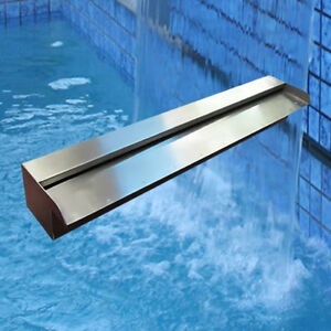 Marine Grade Stainless Steel Water Wall Pool Water Blade Spillway Water Pond