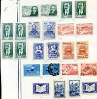 BRAZIL LOT 49 Stamps 1954/5 MH used