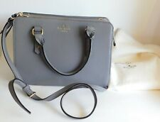 Kate Spade Mulberry Street Pebble Leather Satchel Purse Crossbody Taupe w/Dust