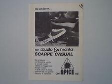 advertising Pubblicità 1976 SCARPE SQUALO APICE