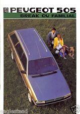 Auto Brochure - Peugeot - 505 Break ou Familial - 1986 - Francais (AB451)