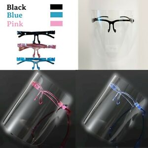Face Shield Full Face Visor Protection Mask PPE Safety Pink Black Blue Anti Fog