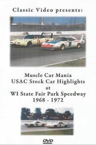 1968-1972 USAC Stock Car Highlights DVD Milwaukee Mile Foyt Unser McCluskey