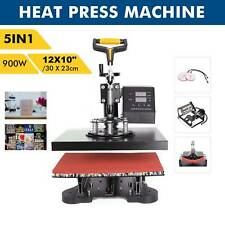 5 in 1 Heat Press Machine Swing Away Digital Sublimation T-Shirt / Mug/Plate Hat