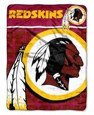 Washington Redskins NFL 46x60 Livin Large Design Micro Raschel Plush Throw