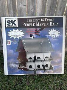 New S&K Purple Martin Barn Bird House 16 Room -Fully Expandable