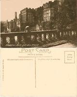 1930's HADDON HALL GARDEN FRONT BAKEWELL DERBYSHIRE UNUSED POSTCARD
