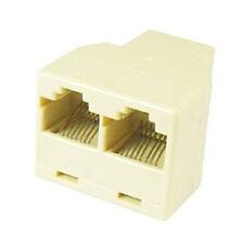 RJ45 Ethernet LAN Network Connector Splitter Adapter Splitt 1 Cat5e to 2